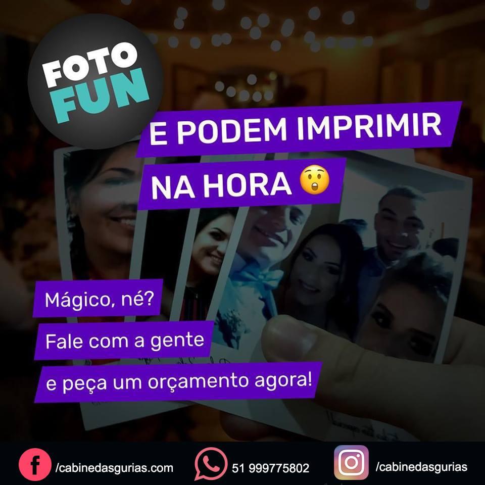 FotoFun ( Em apenas 3 passos você tem sua foto-lembrança )